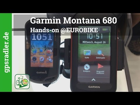 Garmin Montana 680 Hands-on @EUROBIKE