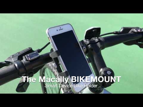 Macally BIKEMOUNT Aluminum Bike Phone Mount Bicycle Holder iPhone Samsung Smartphone Devices