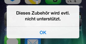 iPhone mit Problem beim laden