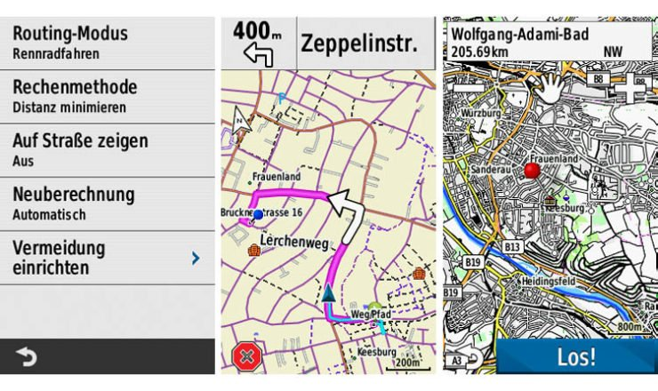 Zielnavigation mit Garmin Edge Explore 1000