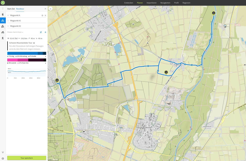 Entfernungsmessung Mit Google Maps : ▷ komoot fahrrad gps touren app im test » empfehlenswert!