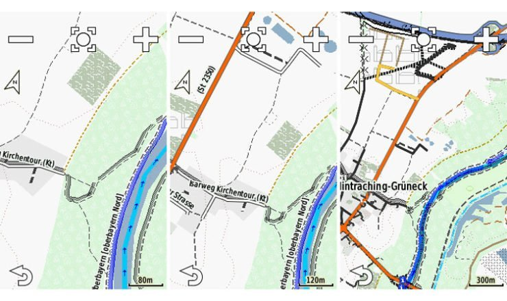 Edge 1000 Screenshots der Velomap mit Racing_Bicycle Layout