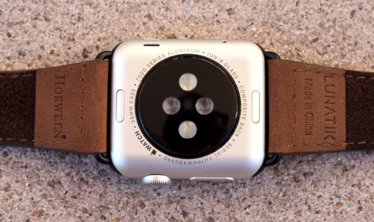 Herzfrequenz Sensor der Apple Watch