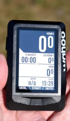 ELEMNT Display in der Sonne
