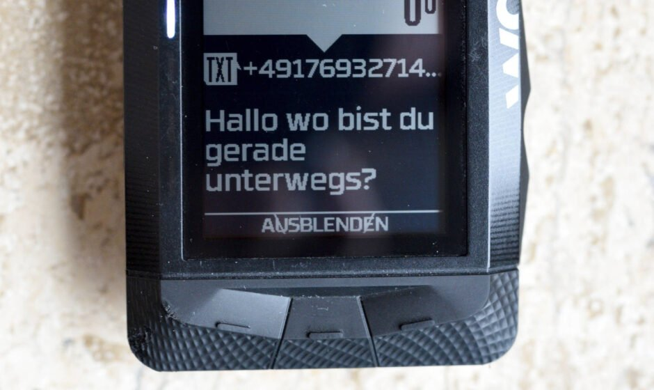 SMS als Smart notification auf dem Wahoo ELEMNT