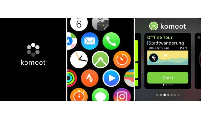 Apple Watch App Start aus Launcher oder Dock