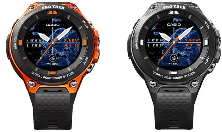 Casio WSD-F20 in Orange oder Schwarz