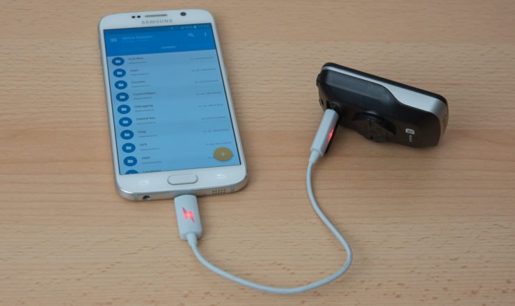 Edge 820 Android USB OTG
