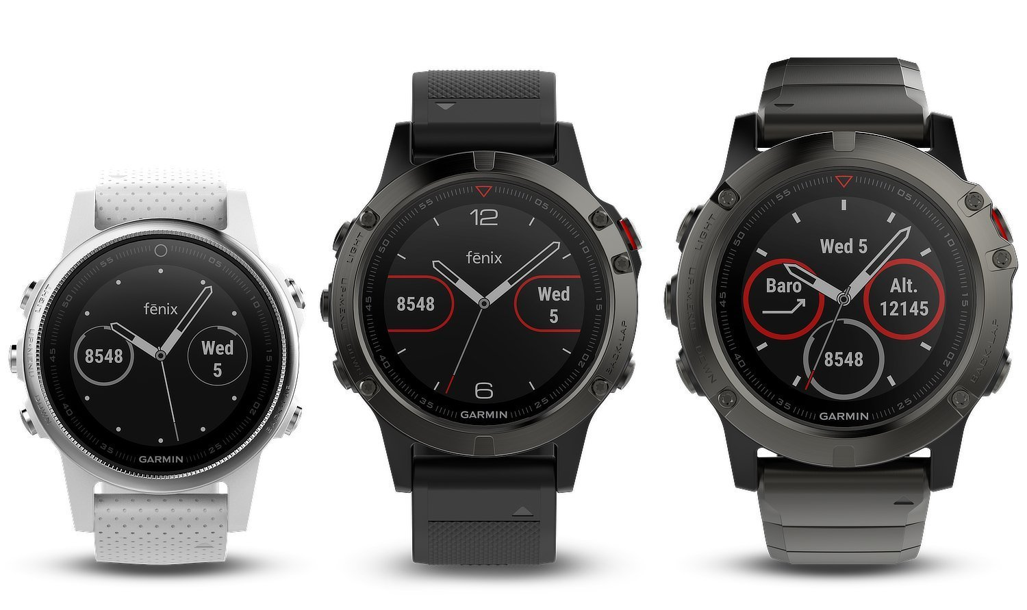 garmin fenix 5 in drei versionen vorgestellt gps radler. Black Bedroom Furniture Sets. Home Design Ideas
