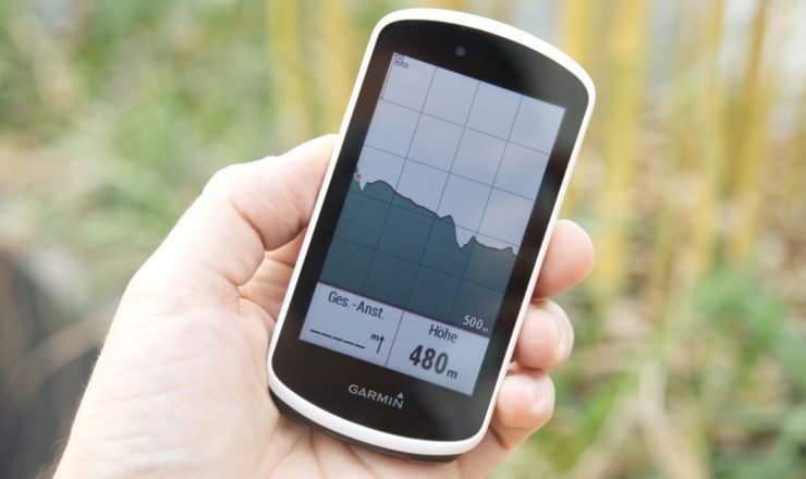 3,5 Zoll Display vom Garmin Edge 1030