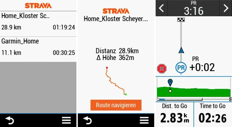 Die Strava Connect IQ App