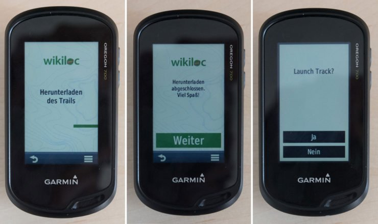 Datentransfer auf Garmin Oregon 700 mit Wikiloc und Garmin Connect IQ App