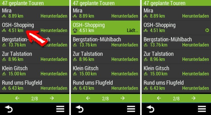 Garmin Connect IQ App von komoot