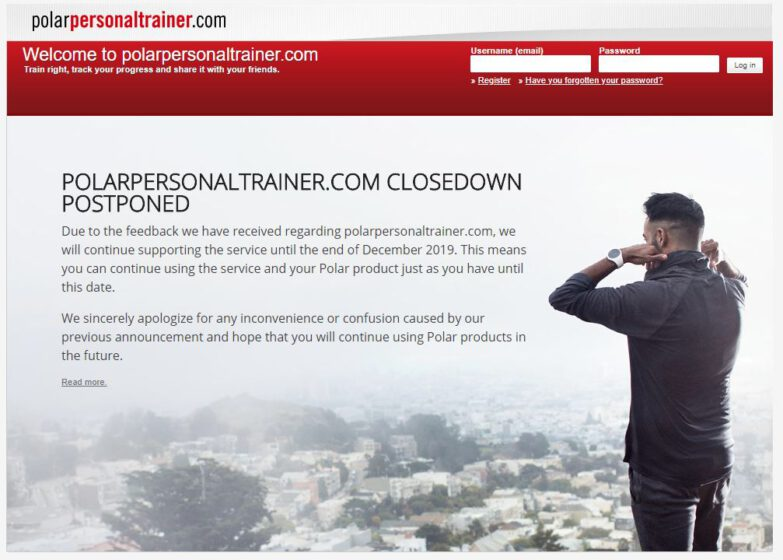 PolarPersonalTrainer Webseite