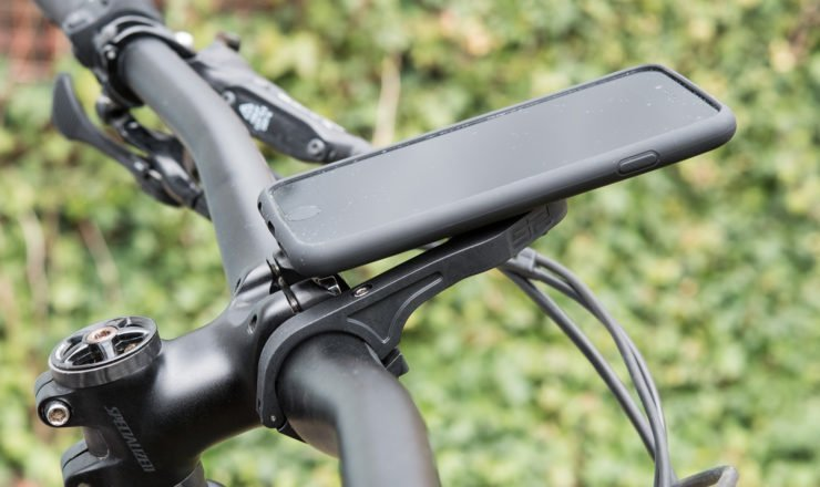SP-Connect Handlebar Mount mit iPhone