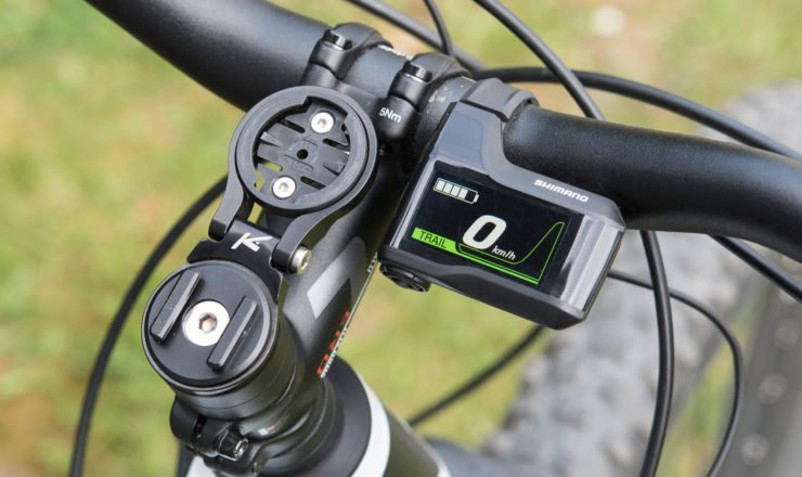 Das Shimano eMTB Display am Lenker