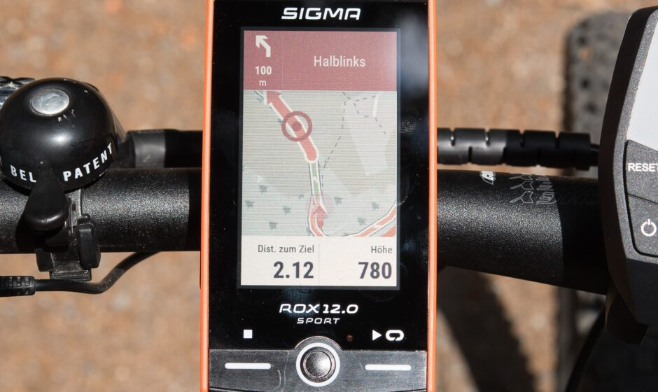 Routing und Navigation - ein Highlight beim Sigma ROX 12.0 Sport