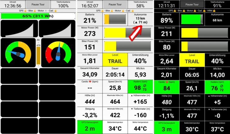 Bike Monitor der BLEvo App