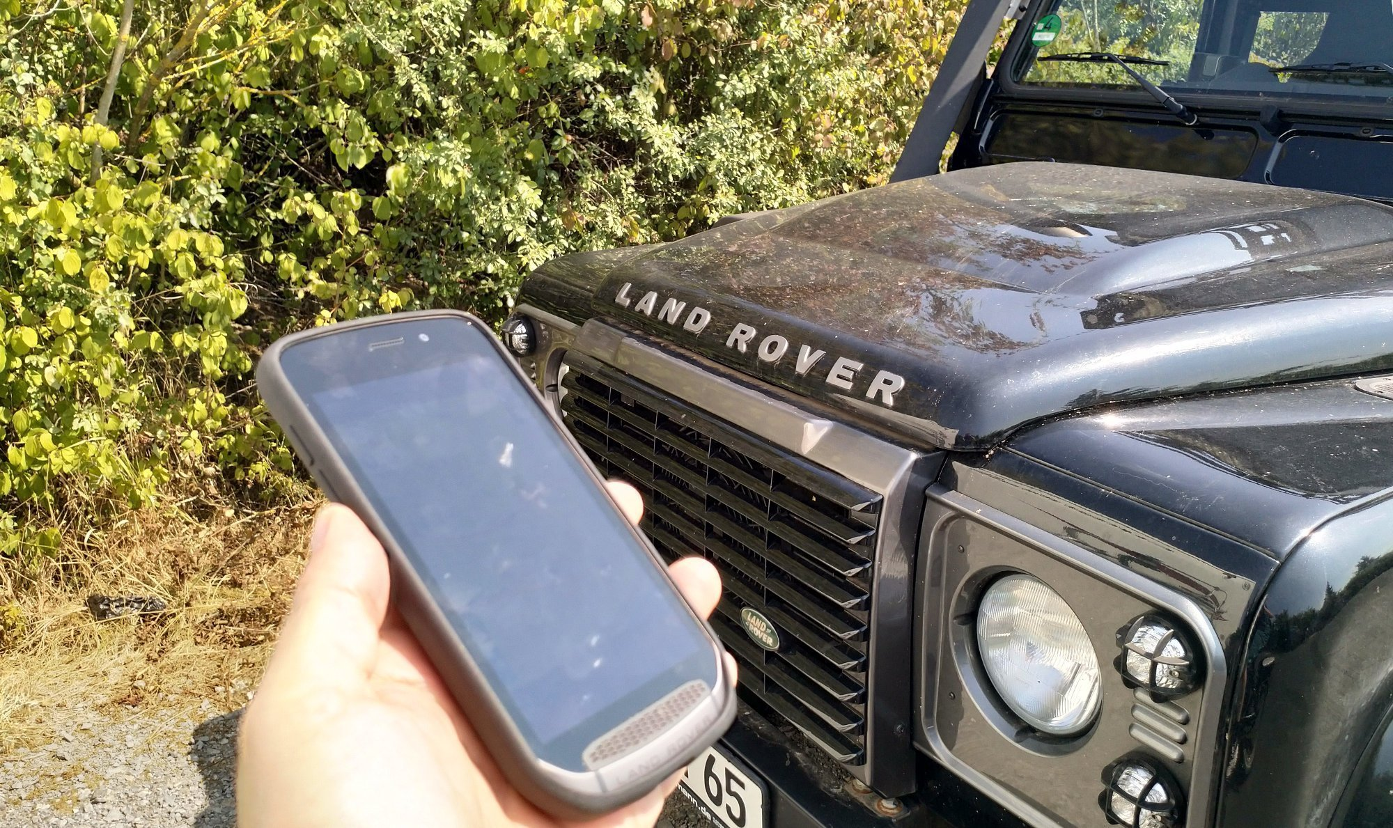 land rover explore test android smartphone f r