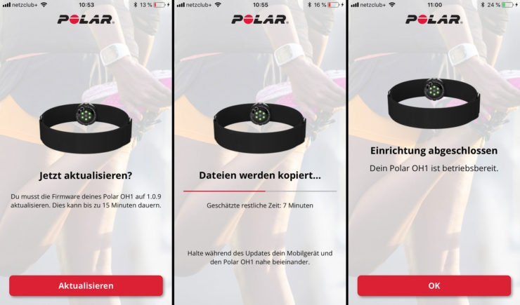Polar OH1 Firmware Update mit der Polar Flow App