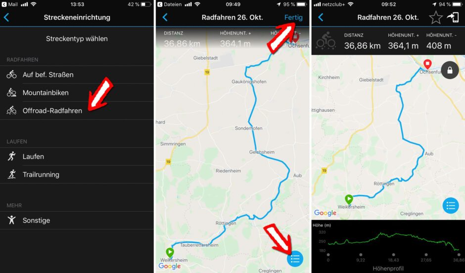GPX-Track Import in Garmin Connect Mobile