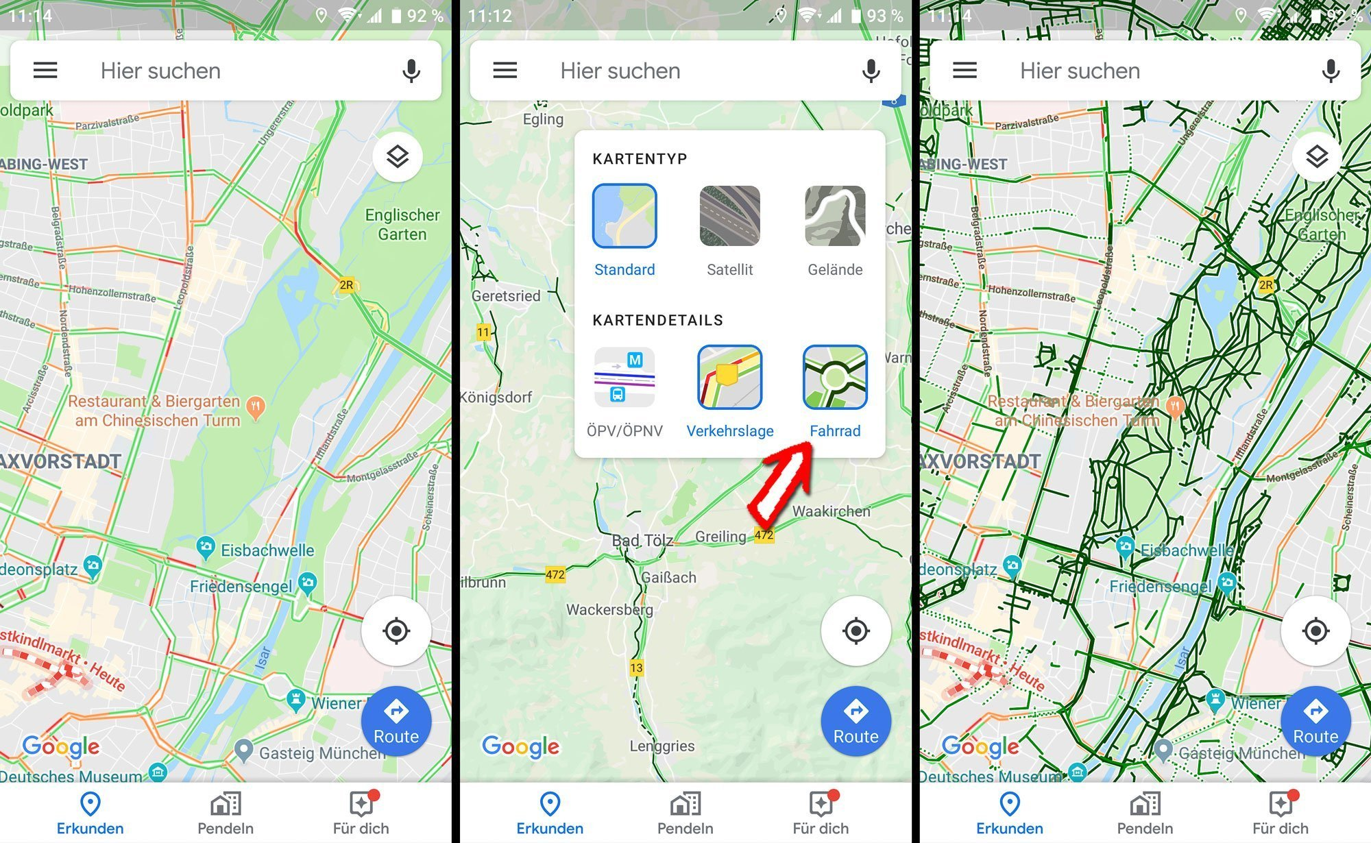 google maps im test fahrradnavigation mit dem smartphone. Black Bedroom Furniture Sets. Home Design Ideas