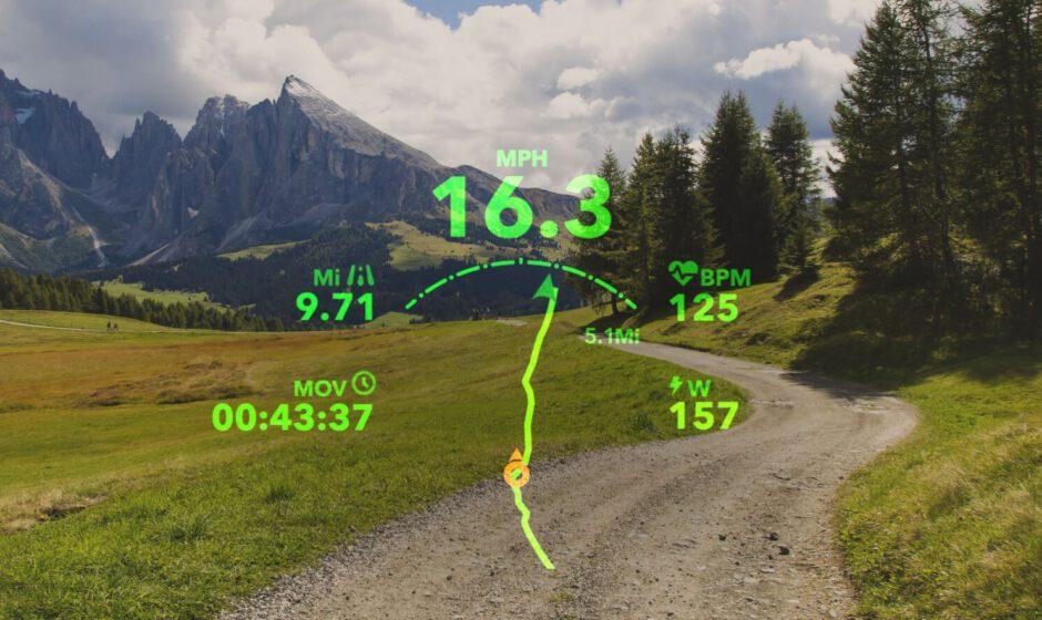 Geplante Route mit Datenansicht (Quelle: Everysight)