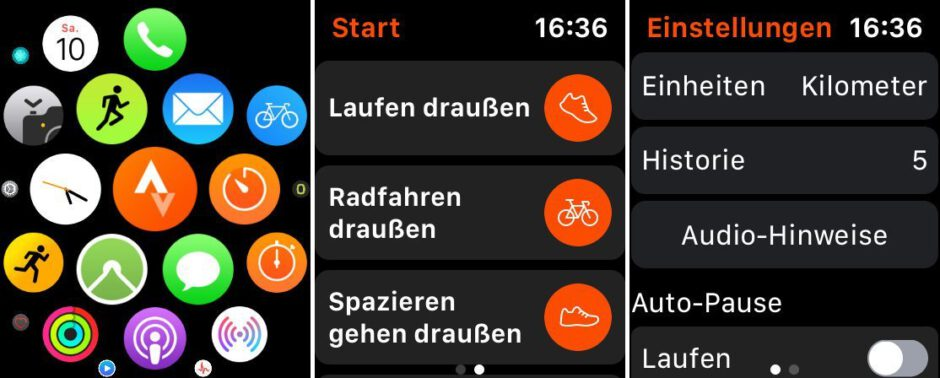 Strava auf der Apple Watch starten