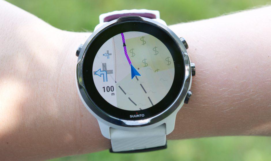 Aktive Locus Map Navigation auf der Wear OS Uhr
